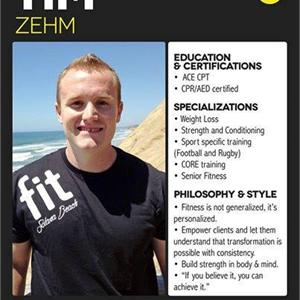 Timothy Zehm Ace Certified Personal Trainer Profile