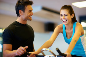 personal trainer and client rapport
