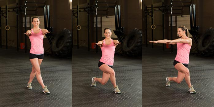 Glute activation lunges