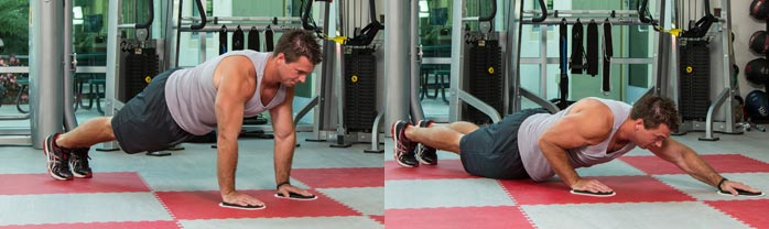 Pushup with sliders