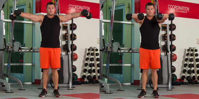 Dumbbell Lateral to frontal raise