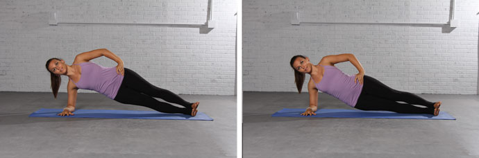 Side plank and pulse