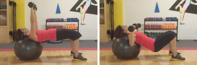 Chest Press with Hip Lifts