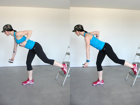 Single-leg Bent-over Row