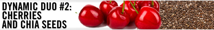 Cherries and chia seeds