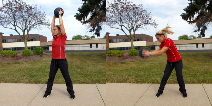 Medicine Ball Lateral Lunge