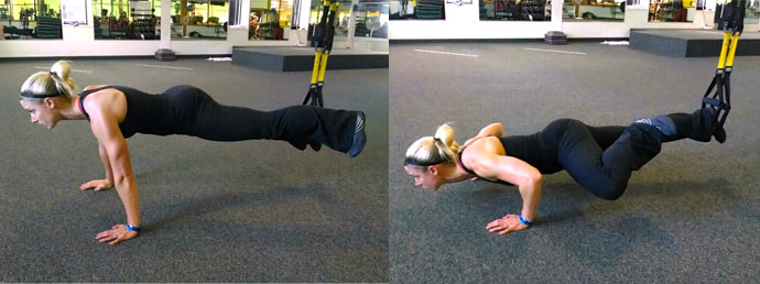 TRX Spiderman Push-up