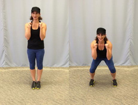 Side-step squat