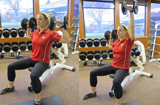 Dumbbell Alternating Arm Shoulder Press