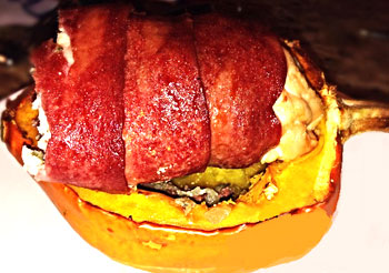 Turkey Bacon Stuffed Squash
