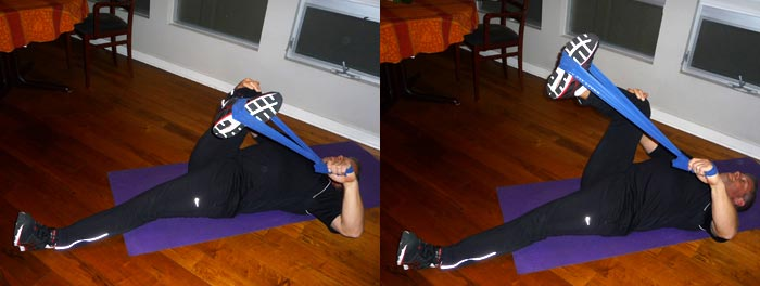 Lying Hip Rotator Stretch