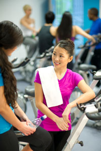 Group fitness students