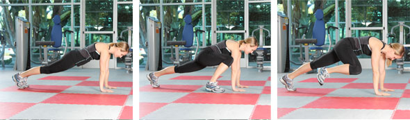 Plank with Hip Flexion/Extension