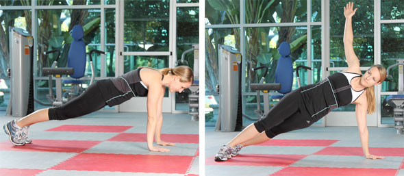 Plank with Thoracic Spine Rotation