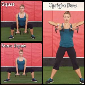 Squat to upright row