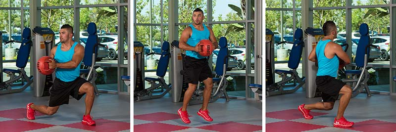 Low Lunge Leg Switch With Medicine Ball