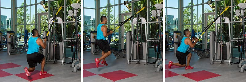Skater Hops (use suspension trainer)
