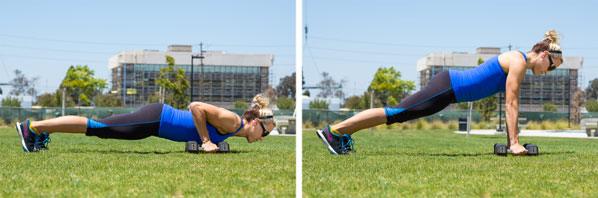 Push-up to Row