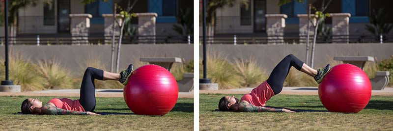 Stability ball bridge