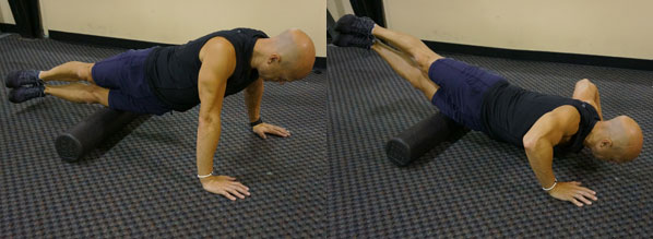 Push up with outer thigh roll