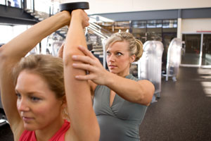 fitness professional client training