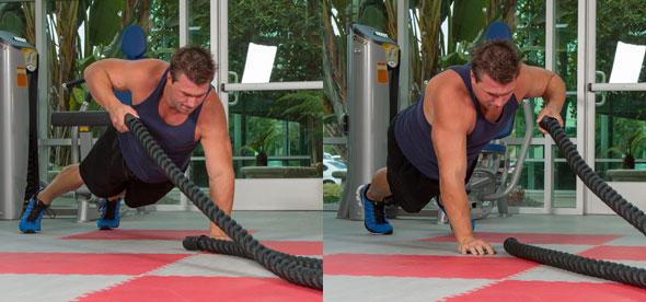 Plank Rope Pulls