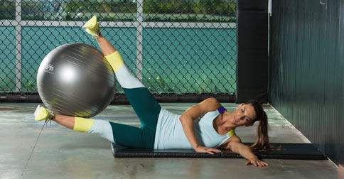 corestrengthening stability ball workout
