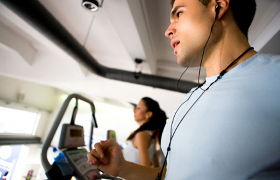 Working out to music