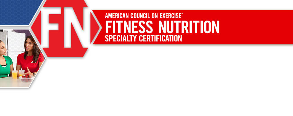 ACE Fitness Nutrition Specialty Certification