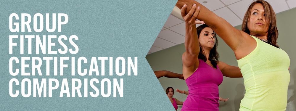 Group Fitness Certification Comparison